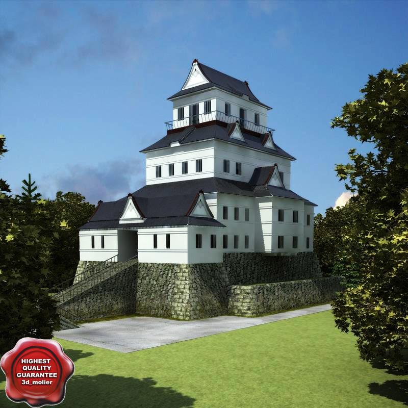 3d model odawara castle