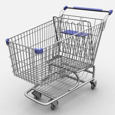 res shopping cart 3d model