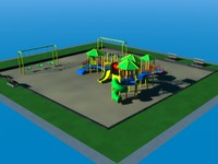 3dsmax park play set