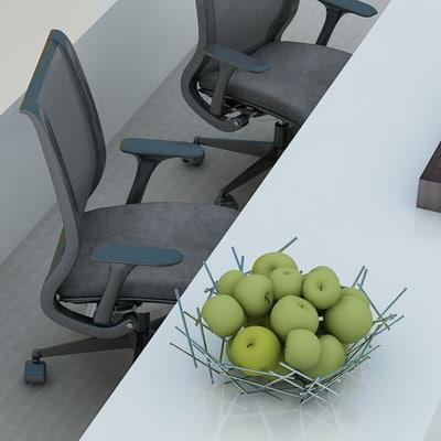 3d chair holder model
