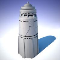 3d model building sci-fi