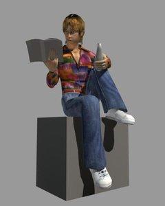 school man 3d model