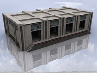 3d model storage city building