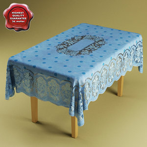3d model table table-cloth