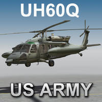 3d model of uh60q -united states army-