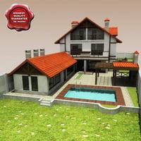 3d villa v16 house