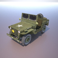 3d army willys jeep suv model