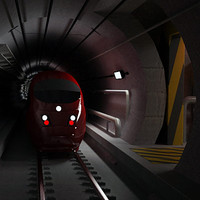 channel tunnel train stts 3d model
