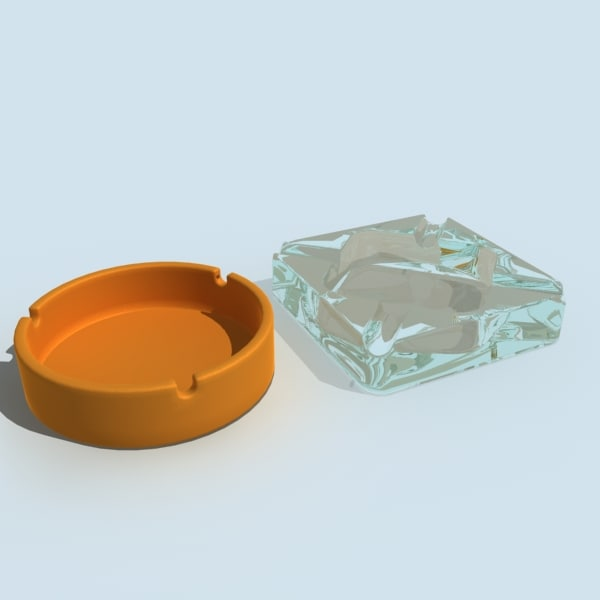 3ds ash tray ashtray