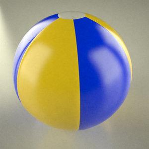 3d beach ball model