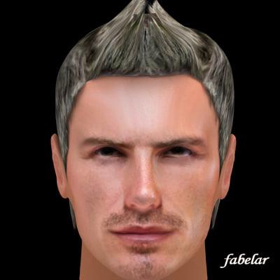 3ds photorealistic beckham hair