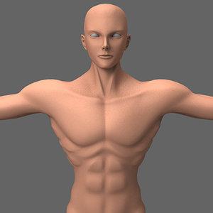 3d male hero anime character model