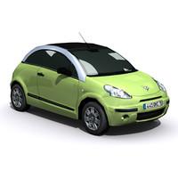 3d citroen c3 pluriel car