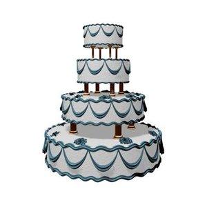 free wedding cake 3d model