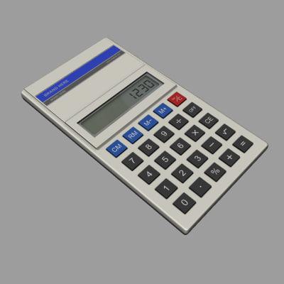 calculator digital 3d max