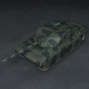 3dsmax challenger 2 battle tank