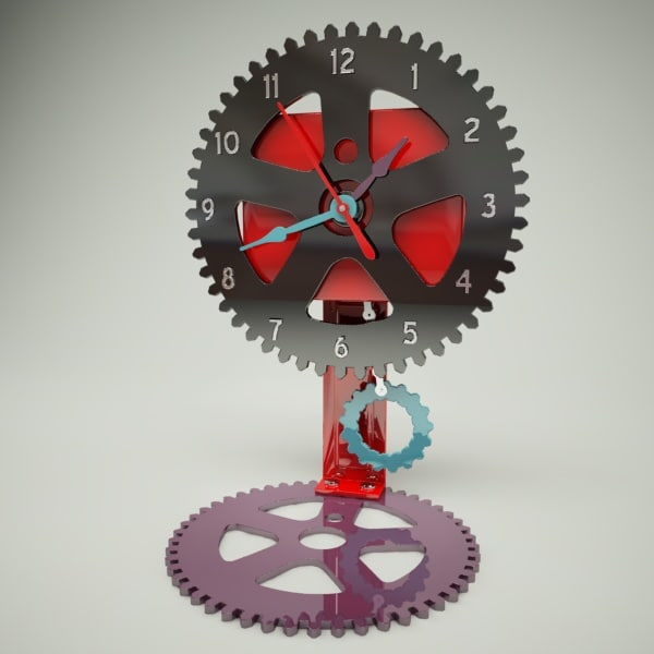 3d 3ds clock cogs
