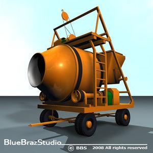 3ds max concrete mixer