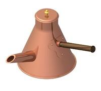 3d model copper pot