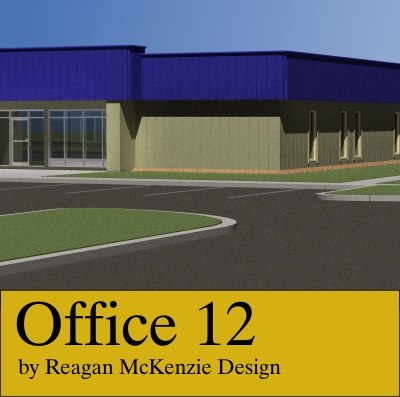 3d steel office building