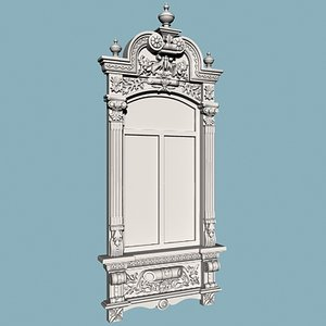decorative window 3d model
