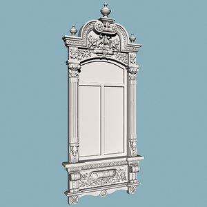 decorative window 3d model
