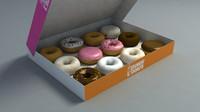 3d max box donuts