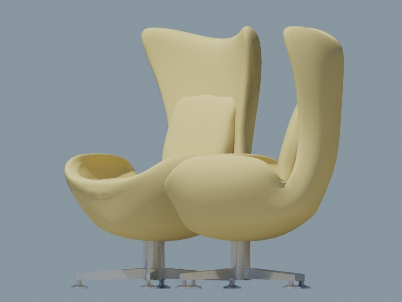 3d max egg chair