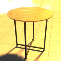 3d model modern end table