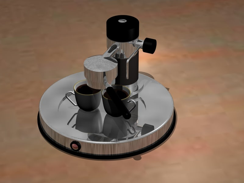 3d model of espresso machine