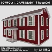 3d house - f house009 model