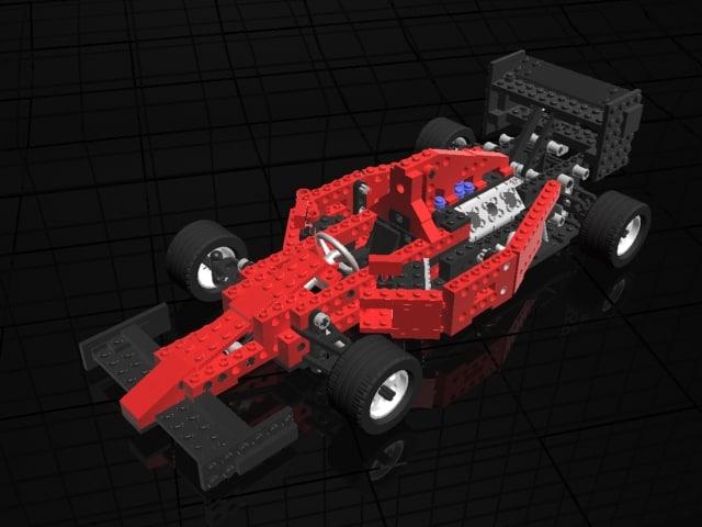 lego octan indy racer 3d model