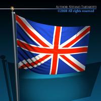 3dsmax united kingdom flag