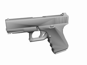 glock 19 pistol 3d model