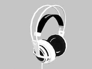3d model of steelseries headset