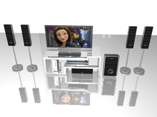 3d model of sony entertainment television home theatre