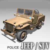 WILLYS JEEP / israel / Police