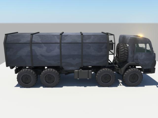 russian kamaz truck 3d ma