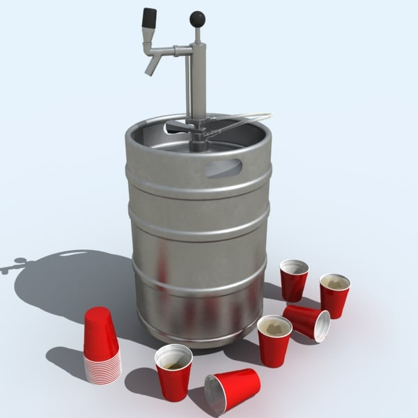 3ds keg cups tap