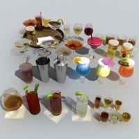 3d model of drink liquor