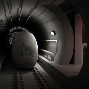 channel tunnel train stts 3d model