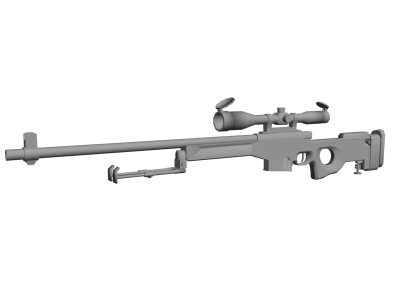 3d 3ds rifle sniper
