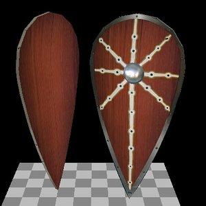 x medieval shield kite