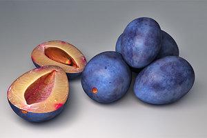 3d pflaumen plums model