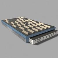 3d model airport hangar