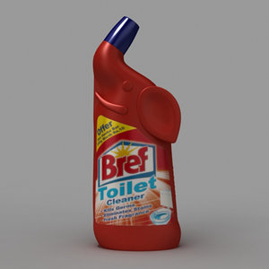 bref toilet cleaner 3d model