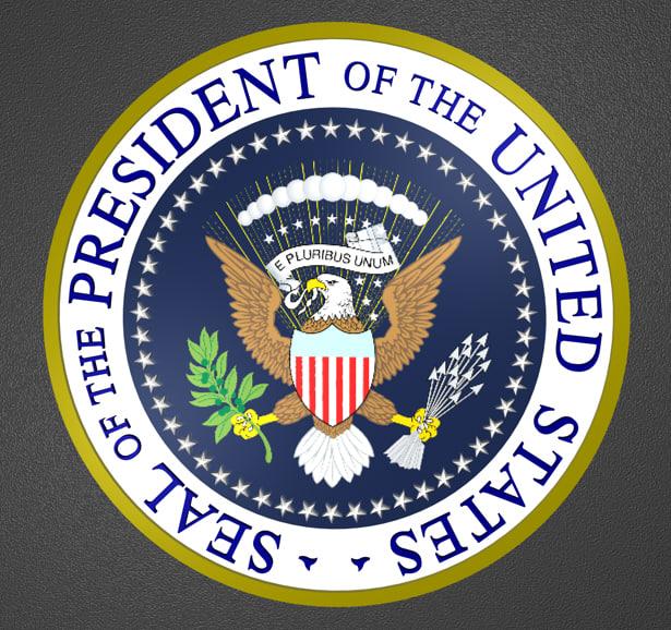 united states seal president 3d model