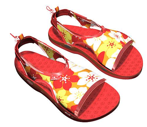 design sandals 3d 3ds