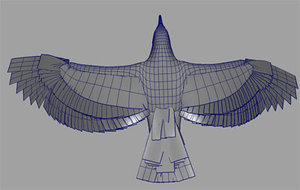 maya seagull rigged