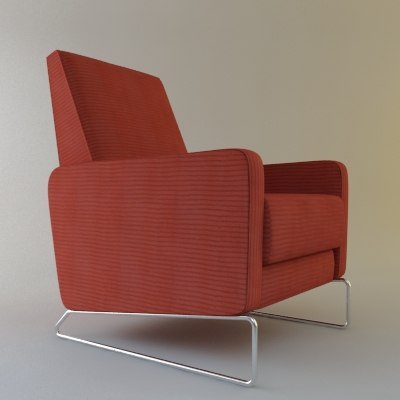 chair flight 3d model